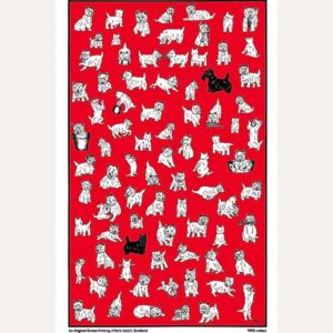 Highland Terriers tea towel