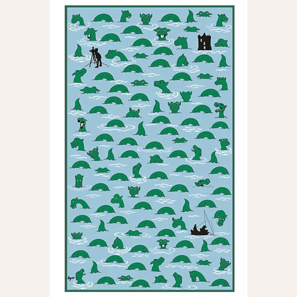 Nessie Hunt tea towel