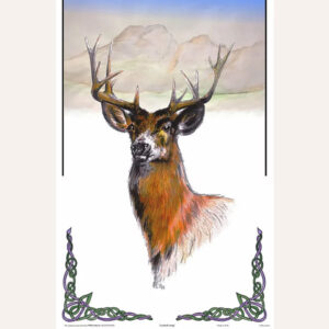 Scottish Stag tea towel