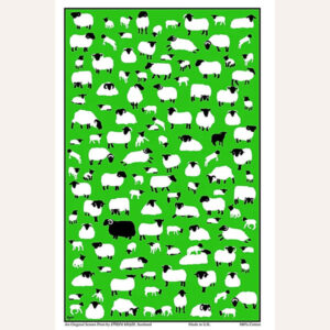 Sheep Flock tea towel