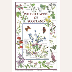 Wildflowers Of Scotland tea towel