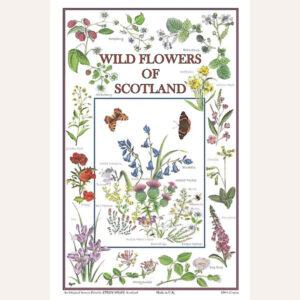 Wildflowers Of Scotland tea towel